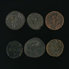 Ancient Coins Roman Artifacts Figural Mixed Lot of 6 B6251