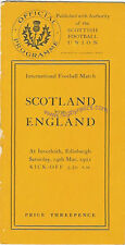 SCOTLAND v ENGLAND 1921 RUGBY PROGRAMME 19 Mar at INVERLEITH, EDINBURGH