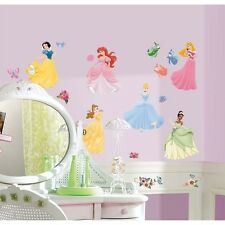 DISNEY PRINCESS 37 BiG Wall Stickers Room Decor Decals CINDERELLA ARIEL BELLE