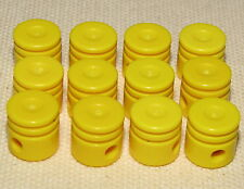 LEGO LOT OF 12 YELLOW TECHNIC PISTON HEAD PIECES FOR AN ENGINE BLOCK