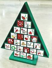 Wooden Tree Advent Calendar Christmas Decoration