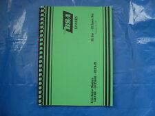 BSA C15F PARTS BOOK  FOR 1963-66 MODELS