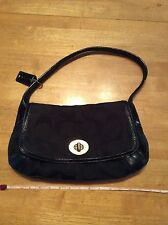 COACH - Large C Signature Black with leather & patent Bag / Handbag with hangtag