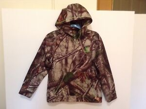 Huntworth Youth L Camo Oak Tree Lined Hoodie w/Pocket Neon Green Accent (CB18-3)