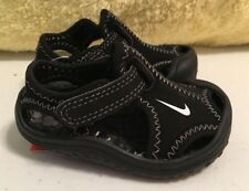 Nike Sunray Protect (TD) Sandal Infant Toddler Boy's Girl's Sz 2 Black/White NEW