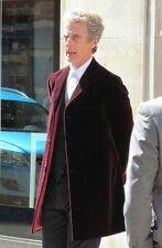 12th Doctor Who Peter Capaldi Maroon Velvet Coat Manteau en velours