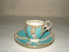 Rare Royal Worcester Trio Neoclassical Tea Cup Saucer Plate Circa 1887
