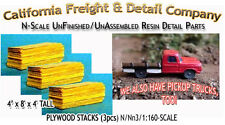 Plywood Sheet Stacks (3pcs) N/1:160-Scale Craftsman California Freight NEW!