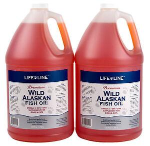 Life Line Wild Fish Oil 2 gal Fresh Alaskan f/ dogs,cats (similar to Salmon Oil)