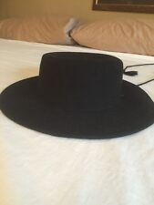 Wool Hat, Black, 100% Wool, Plantation Or Gangster Style S