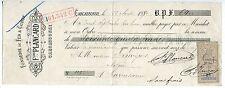 TRAITE 1890 FONDERIE DE FER ET CUIVRE F  PLANCARD CARCASSONNE TIMBRE FISCAL
