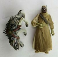 Star Wars 2000 SAGA Series #52 Tusken Raider w/ Massiff Action Figure Complete