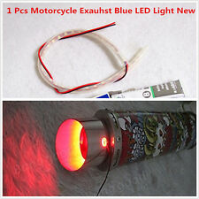 Exhaust Tail Pipe Blue Heated LED Light Strip Modification Firing for Motorcycle