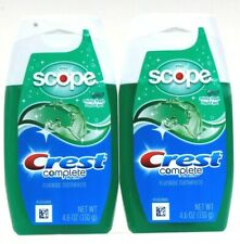 2 Ct Crest 4.6 Oz Complete Multi Benefit Plus Scope Minty Fresh Gel Toothpaste