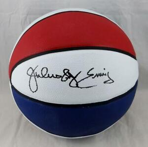 Julius Erving Autographed ABA Red/White/Blue Basketball- JSA Witness Auth