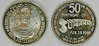 1988 Superman 1 Oz 999 Fine Silver 50th Birthday Anniversary AMC Art Round Coin