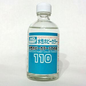 Mr Aqueous Hobby Color Acrylic Thinner 110ml T110 Gunze Sangyo GSI Creos Bottle