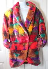 Donnybrook VINTAGE Women's Medium 1980s Oversized Southwestern Faux Fur Coat