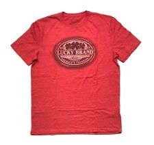 NEW Lucky Brand Men's Graphic T-Shirt Heather Red, Size M Medium