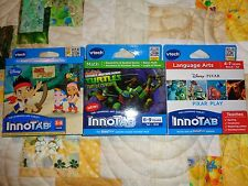 Lot OF 3 VTECH INNOTAB GAME CARTRIDGES JAKE TMNT DISNEY PIXAR PIXAR PLAY LOT#20