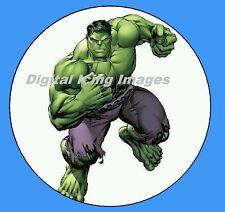 Cake topper edible digital image icing Hulk REAL FONDANT