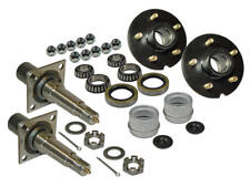 """Pair of 5-Bolt on 4-1/2 Inch Hub & Flanged 1-3/8"""" to 1-1/16"""" Spindle Assembly"""