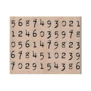 NEW Numbers Set RUBBER STAMP, Numbers Stamp, Numerical Stamp, Mixed Media Stamp