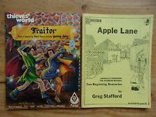 4 vintage roleplaying books~Thieves' World~Runequest Apple Lane~Arms Law