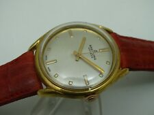 VINTAGE BREITLING SWISS WATCH REFINISHED DIAL GOLD PLATED CASE