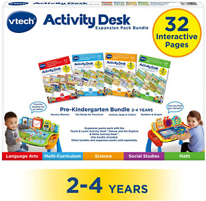 Touch and Learn Activity Desk Deluxe Preschool Bundle Expansion Pack Easy to Use