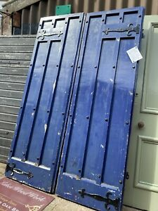 RECLAIMED - GOTHIC / ARTS & CRAFTS ANTIQUE Pair of DOORS - Double FRONT ENTRANCE