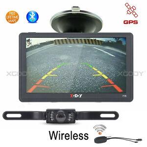 "XGODY 8GB 7"" GPS Navigation SAT NAV Bluetooth Free Wireless Rear View Camera Kit"