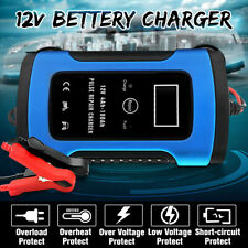 Smart Car Battery Charger 12V 6A LCD Auto Motorcycle Pulse Repair Jump Starter