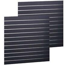 Slatwall Panel 1200X1200X PAIR18mm BLACK Premium Quality Slat Wall Board Sheet