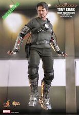 HOT TOYS IRONMAN TONY STARK MECH TEST MMS581 ROBERT DOWNEY 1/6 NEW