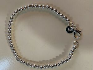 STERLING SILVER 925 MARKED BEAD BRACELET FASHION LADIES - NEW - BARGAIN!!