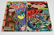 Tomb of Dracula #34 & #35 Both Signed w/ Coa Bronze Horror Marvel Comics 1975