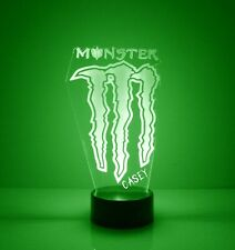 Monster Energy Logo, Personalized LED Night Light Lamp, with Remote Control