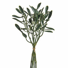 Artificial 36cm Mistletoe Bunch of 6 Stems