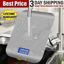 5kg/1g Flache Haushaltwaage Küchenwaage Präzisionwaage Feinwage Grammwaage Grau