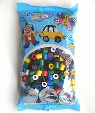 HAMA BEADS MAXI BEADS REFILL PACK - 500 COLOURED BEADS - BRAND NEW & SEALED!