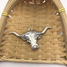 2 pcs Tibet silver Longhorn Charms 60x31mm DIY Jewellery Making crafts