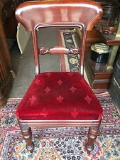1860s English Regency mahogany side chair upholstered seat Nice Old