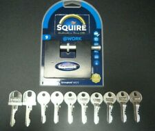 SQUIRE STRONGHOLD PADLOCK WS75 CONTAINER LOCK x10 KEYS