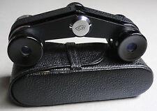 ROW Rathenow GERMANY opera glasses binoculars black in case - MINT -
