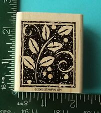 Stampin Up CLIMBING IVY / LEAVES / BRANCH  Rubber Stamp