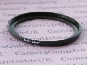 60mm to 67mm Male-Female Stepping Step Up Filter Ring Adapter 60mm-67mm