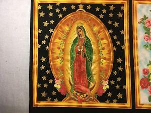 Inner Faith 4 - Virgin Mary Panel - Robert Kaufman ABCM-6482 195 Quilt Fabric