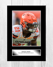 Denzil Ward NFL Cleveland Browns reproduction signed poster. Choice of frame.