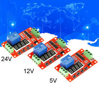 Newest DC 5V 12V 24V Self-lock Relay PLC Cycle Timer Module Delay Time Switch UK